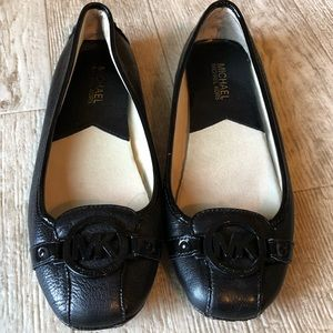 Women's Michael Kors MK black flats